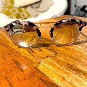 Krewe St Louis Sunglasses - Pink and Black Tortoise